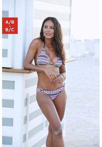 LASCANA Triangel-Bikini-Top »Wintu«, mit goldfarbenen Zierringen kaufen