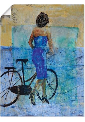 Artland Wandbild »Ein Mädchen mit einem Fahrrad«, Frau, (1 St.), in vielen Grössen &... kaufen