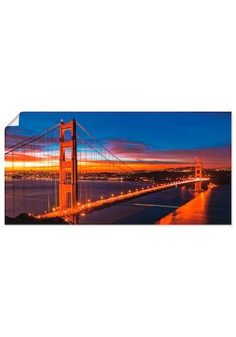 Artland Wandbild »The Golden Gate Bridge am frühen Morgen«, Brücken, (1 St.), in... kaufen