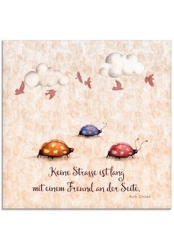 Artland Glasbild »Lebensweisheit Freunde«, Tiere, (1 St.) kaufen