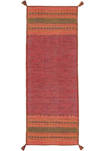 carpetfine Läufer »Kelim Azizi«, rechteckig, 5 mm Höhe, Baumwolle, Wendeteppich mit... kaufen