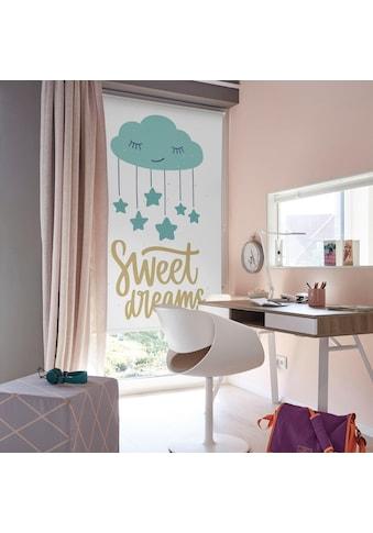 Lüttenhütt Seitenzugrollo »Sweet Dreams«, verdunkelnd, ohne Bohren, im Fixmass kaufen