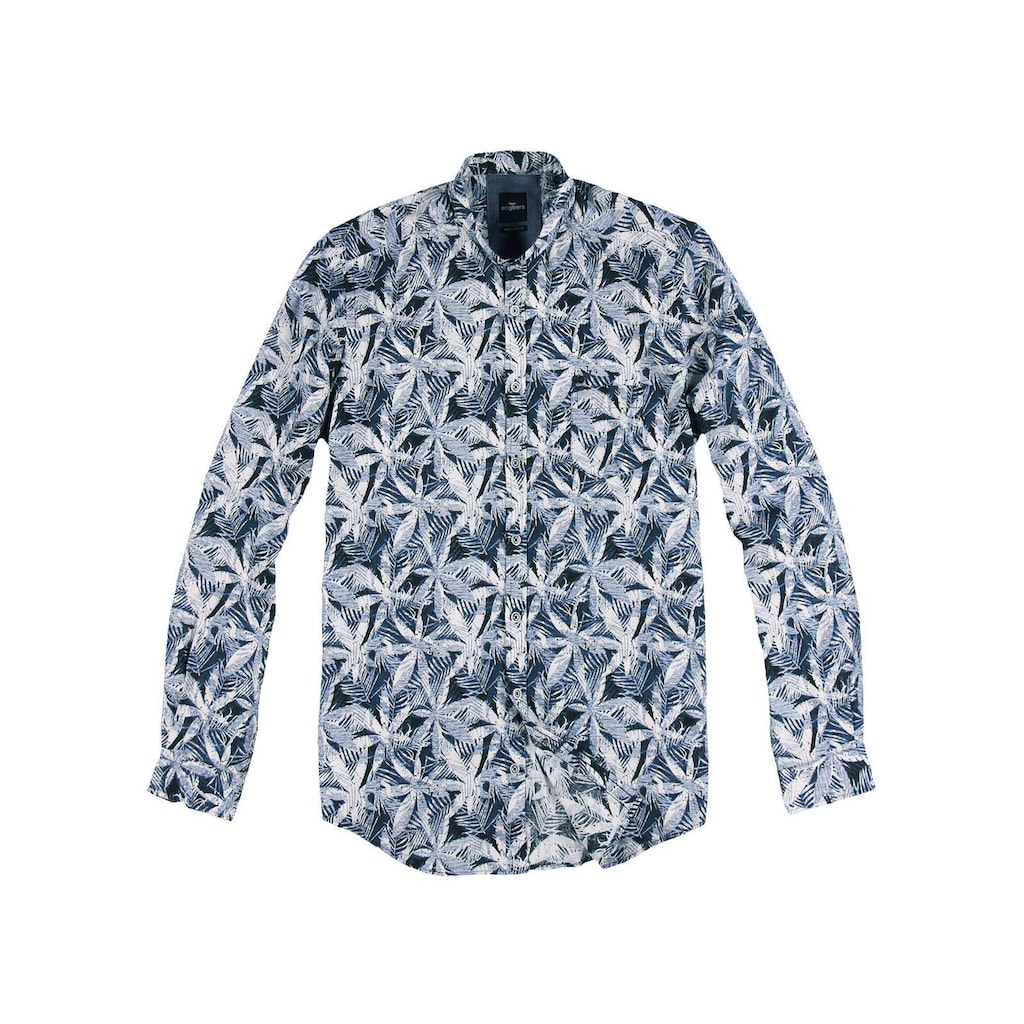 Engbers Strukturiertes Palmenhemd