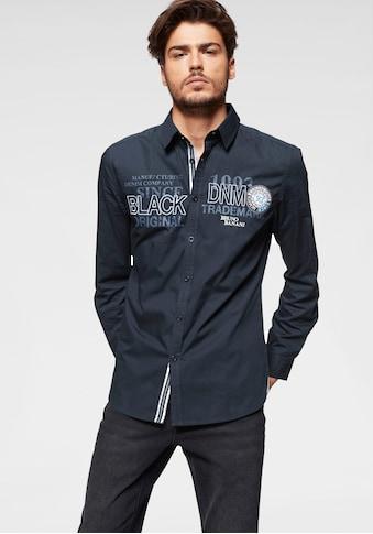 Bruno Banani Langarmhemd, mit aufwändigen Stickereien kaufen