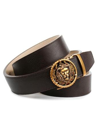 Anthoni Crown Ledergürtel, mit Löwen Schliesse kaufen