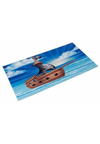 Böing Carpet Kinderteppich »Lovely Kids 406«, rechteckig, 6 mm Höhe, Motiv Piratenschiff kaufen