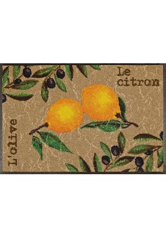wash+dry by Kleen-Tex Fussmatte »Le Citron«, rechteckig, 7 mm Höhe, Schmutzfangmatte,... kaufen