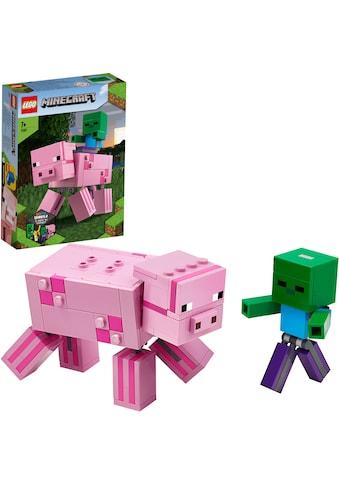 """LEGO® Konstruktionsspielsteine """"BigFig Schwein mit Zombiebaby (21157), LEGO® Minecraft™"""", Kunststoff, (159 - tlg.) kaufen"""