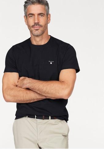 Gant T-Shirt, kleine Kontrast-Logostickerei kaufen