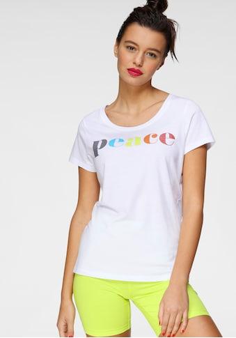 AJC T-Shirt, mit Multicolor-Glitzer-Frontprint kaufen