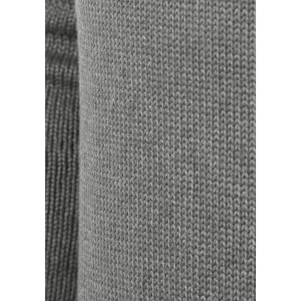 Solid Strickjacke »Poul«, Strickjacke mit Stehkragen