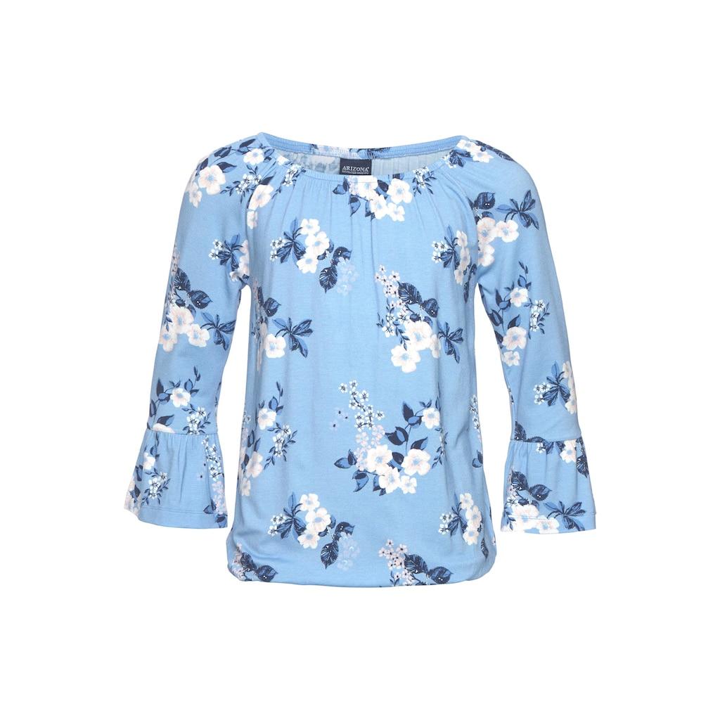 Arizona 3/4-Arm-Shirt, mit hübschem Blumendruck