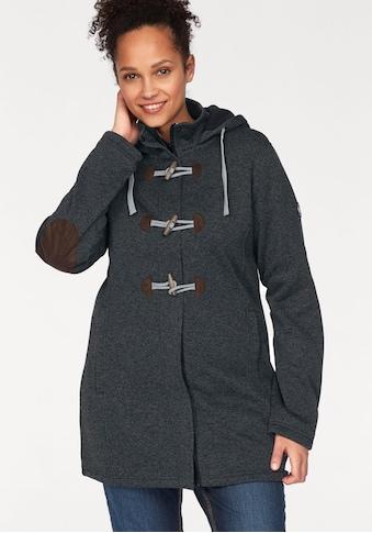 Polarino Strickmantel, mit Ellbogenpatches und Knebelknöpfen kaufen