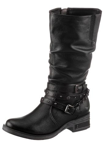 Mustang Shoes Stiefel, mit Nietenband und Zierkette kaufen