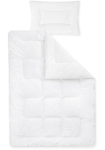 Ganzjahresbettdecke + Kopfkissen, »Basic«, Zöllner, Kindersteppbett kaufen
