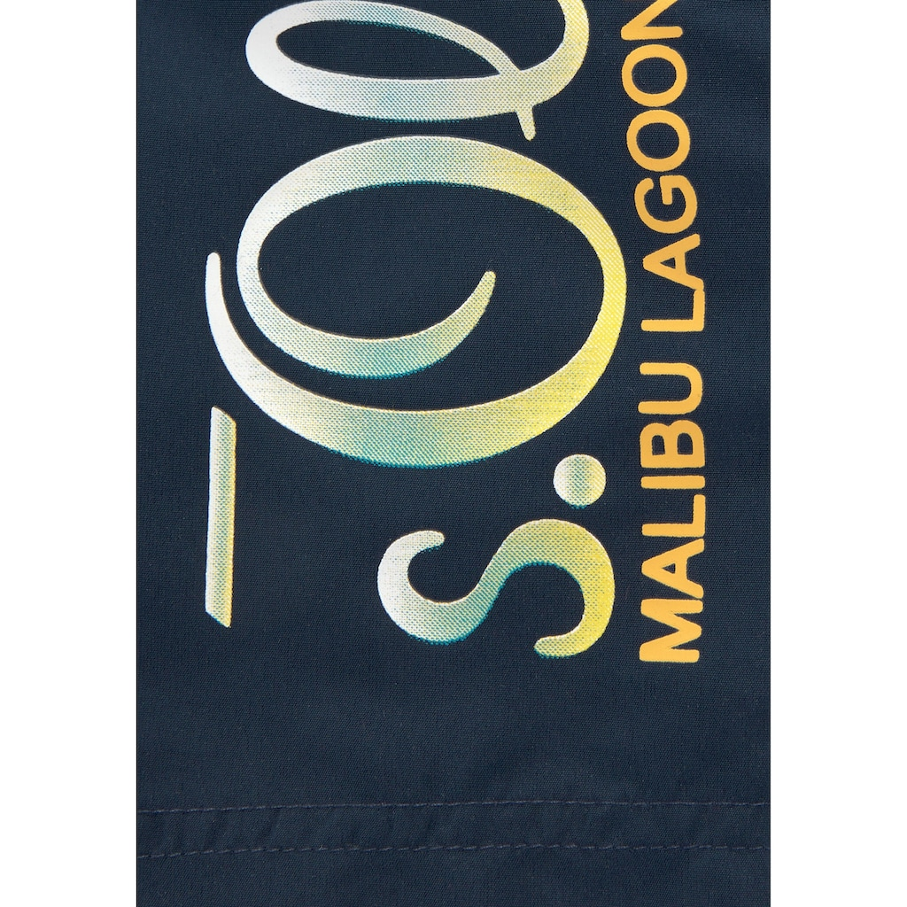 s.Oliver Beachwear Badeshorts, mit Logodruck und kontrastfarbenen Details