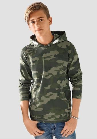 KIDSWORLD Langarmshirt, tarnfarben mit Kängurutasche kaufen
