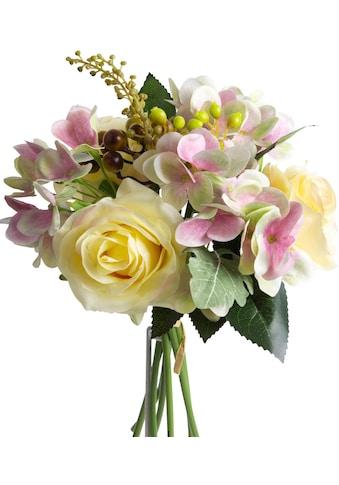 Botanic-Haus Kunstblume »Rosen-Hortensienstrauss« kaufen