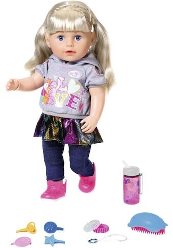 Baby Born Stehpuppe »Soft Touch Sister 43 cm, blond«, interaktiv kaufen