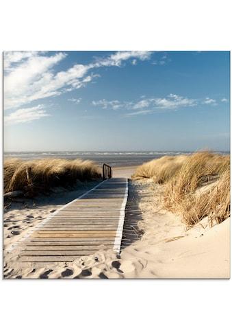 Artland Glasbild »Nordseestrand auf Langeoog - Steg«, Strand, (1 St.) kaufen