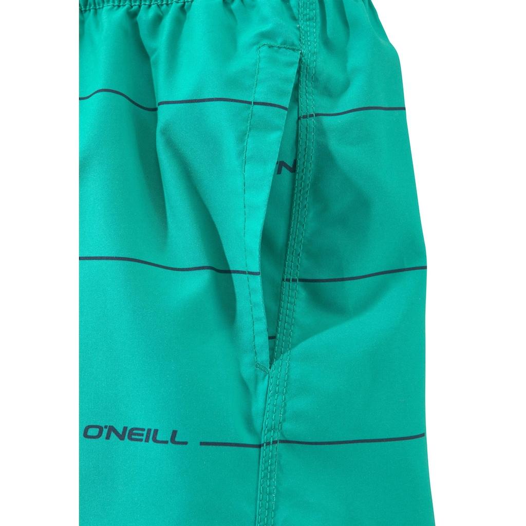 O'Neill Badeshorts, (1 St.), mit feinen Querstreifen