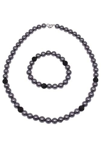 Firetti Schmuckset »Kette und Armband, schimmernd, edel, versilberfarbent«, mit... kaufen