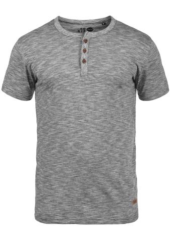 Solid Rundhalsshirt »Sigos«, Kurzarmshirt mit Knopfleiste kaufen