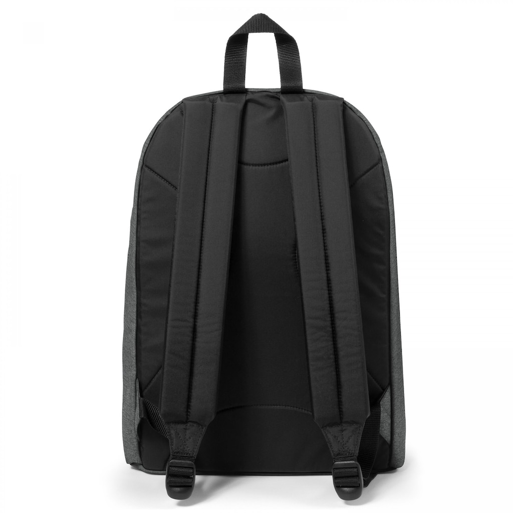 Eastpak Laptoprucksack »OUT OF OFFICE, Black Denim«, enthält recyceltes Material (Global Recycled Standard)