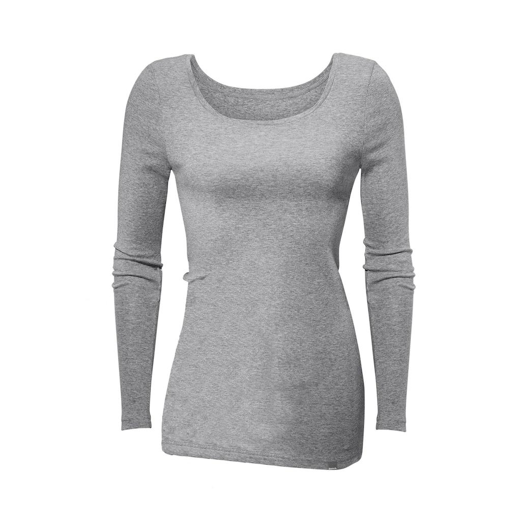 Bench. Langarmshirt, besonders lang geschnitten und aus weicher Feinripp-Qualität