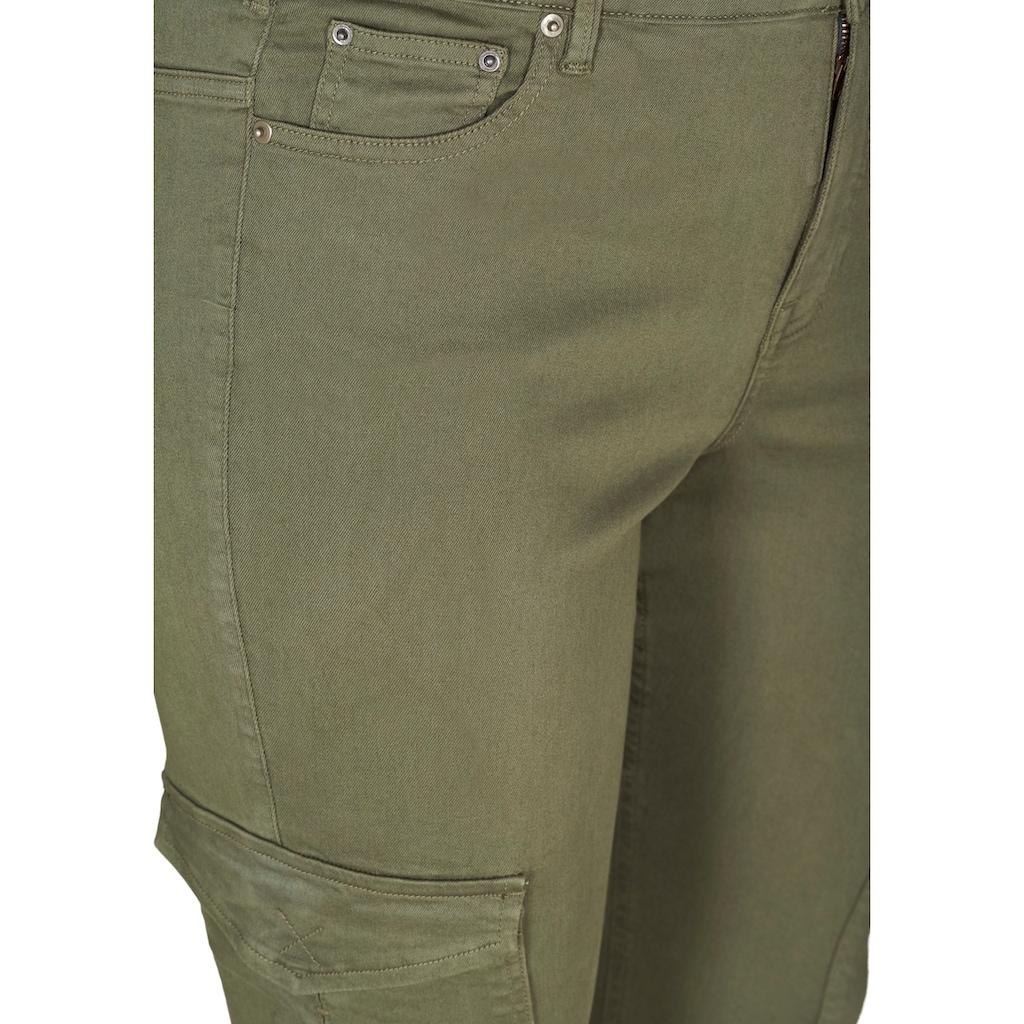 Zizzi Cargohose, mit zwei grossen Taschen auf den Oberschenkeln