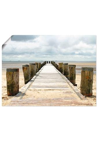 Artland Wandbild »Steg ins Watt«, Strand, (1 St.), in vielen Grössen & Produktarten -... kaufen