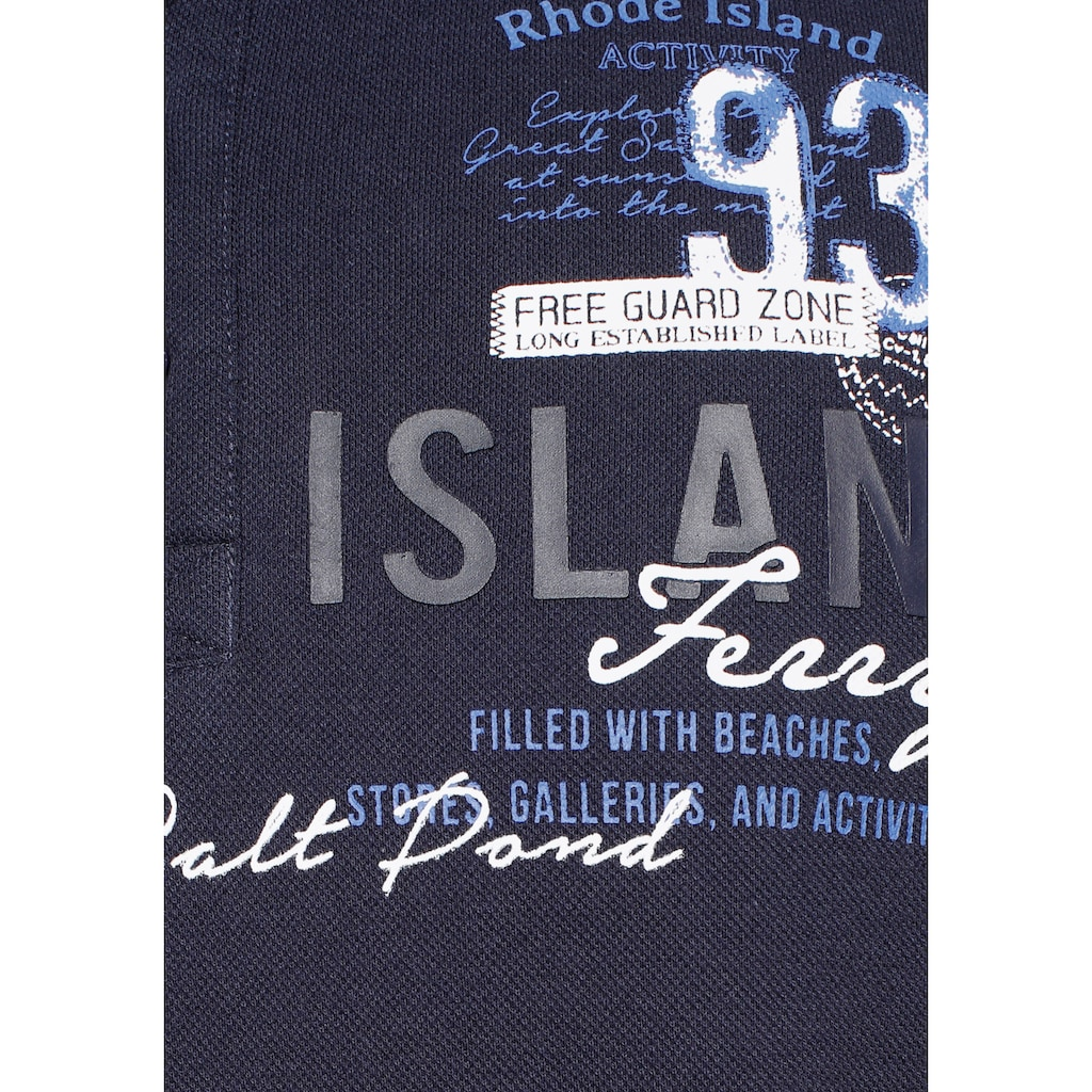 Rhode Island Poloshirt, mit vielen Logoprints