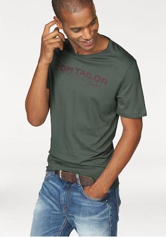 TOM TAILOR T-Shirt, mit Logoprint kaufen