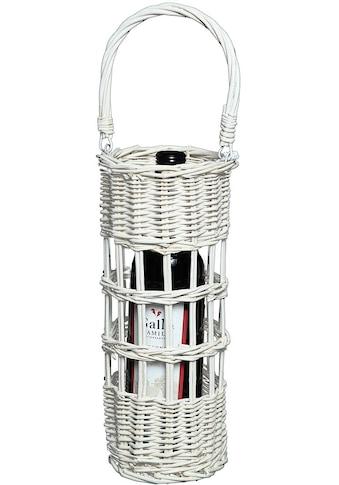 Ambiente Haus Flaschenhalter »Flaschenträger aus korb - weiss 31cm« kaufen