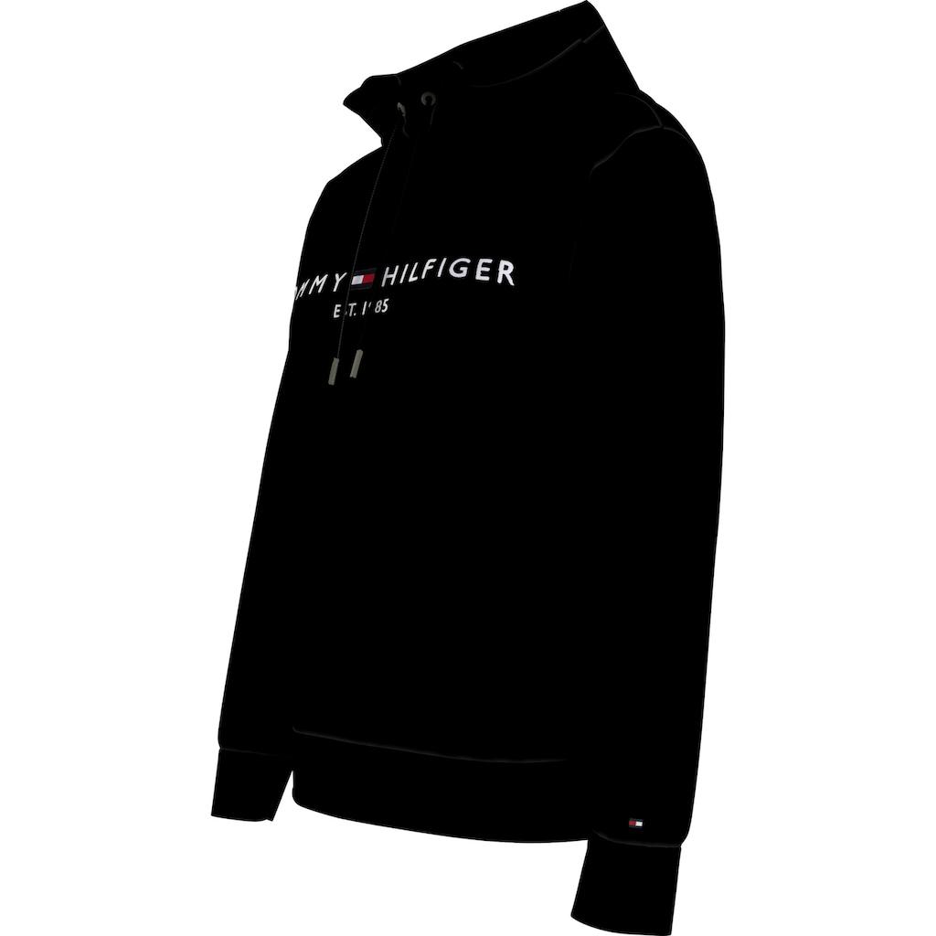 TOMMY HILFIGER Kapuzensweatshirt »TH ESS HILFIGER HOODIE LS«, mit gesticktem Tommy Hilfiger Linear-Logo & Flag