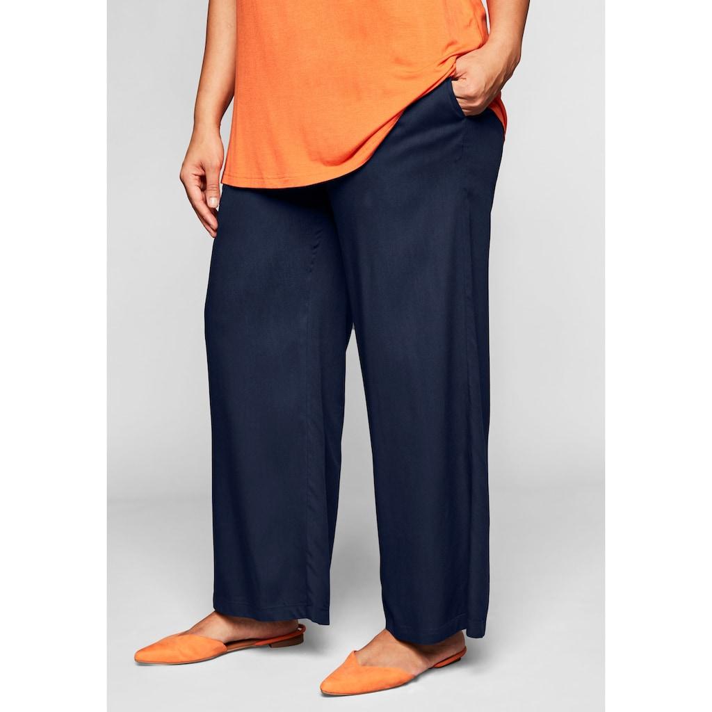 Sheego Schlupfhose, mit Smokbund und Taschen