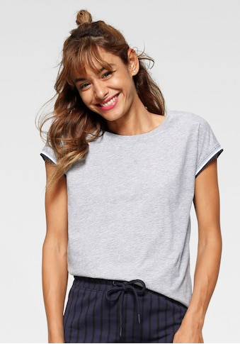 AJC T-Shirt, mit kontrastfarbenem Rippbündchen kaufen