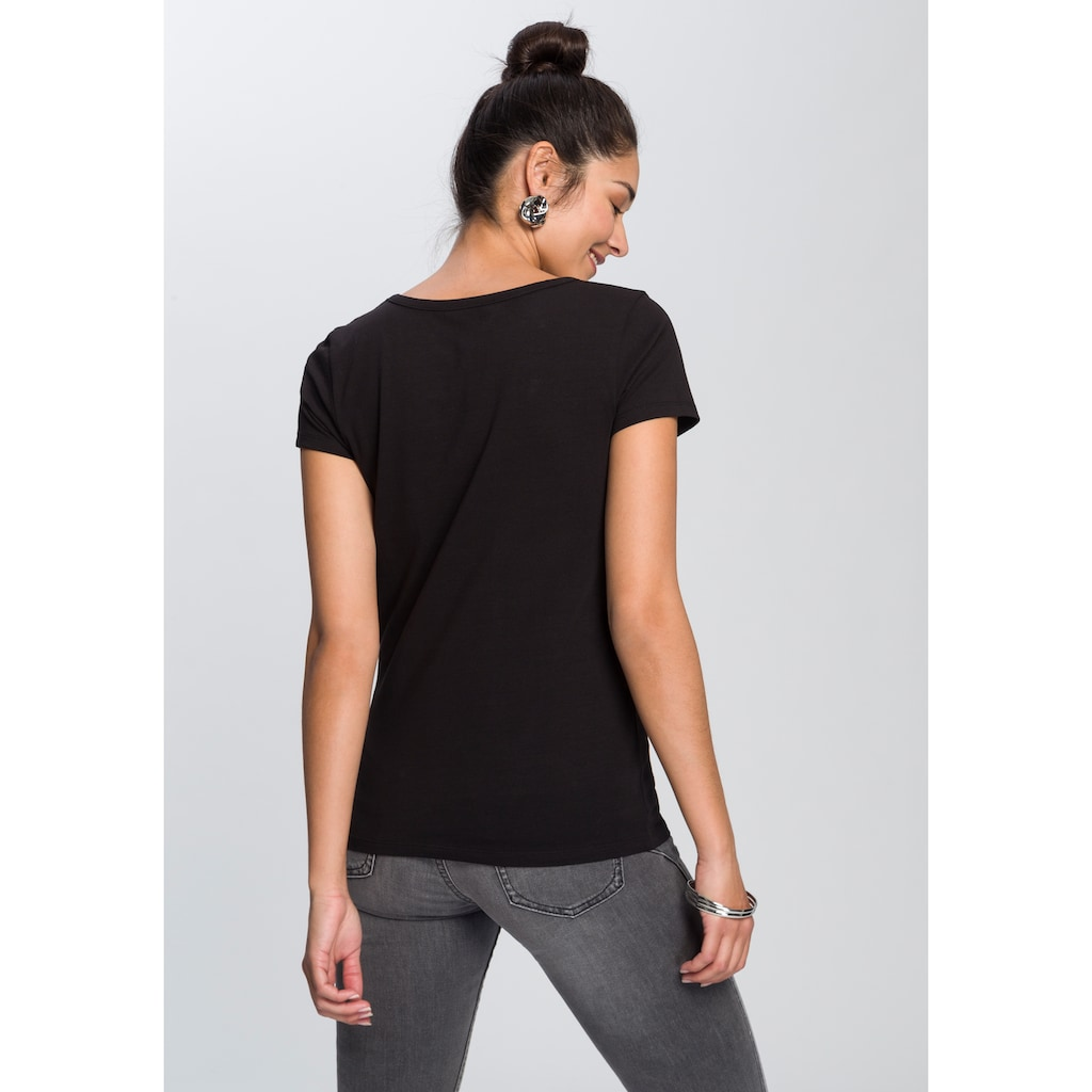 AJC T-Shirt, mit Glitzer-Print