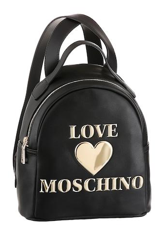 LOVE MOSCHINO Cityrucksack, im kleinen Format, mit Herz Applikation kaufen