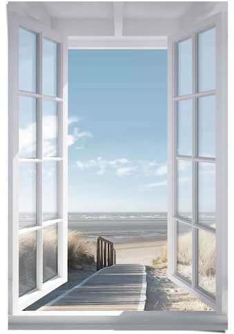 Reinders! Poster »Poster Fensterblick Nordsee«, Meer, (1 St.) kaufen