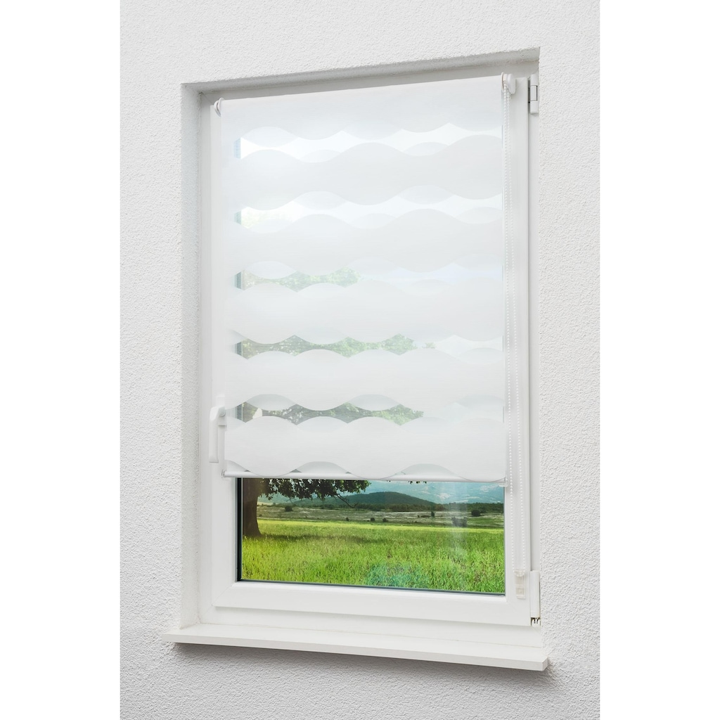 sunlines Doppelrollo »Doppelrollo Welle«, Lichtschutz, ohne Bohren, freihängend, Effektiver Sichtschutz