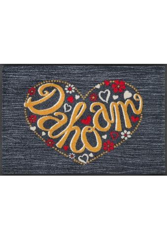 wash+dry by Kleen-Tex Fussmatte »Dahoam«, rechteckig, 7 mm Höhe, Schmutzfangmatte, mit... kaufen