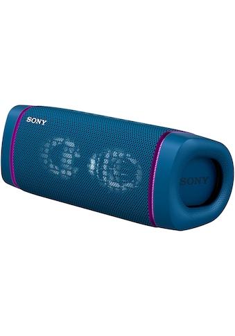 Sony Bluetooth-Lautsprecher »SRS-XB33 tragbarer, kabelloser«, Mehrfarbige Lichtleiste, Lautsprecherbeleuchtung, wasserabweisend, Extra Bass kaufen