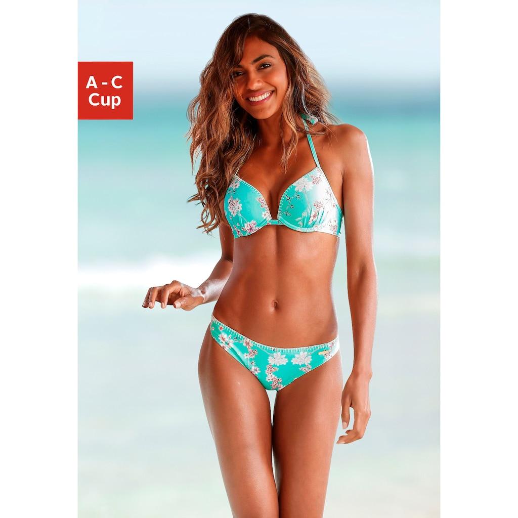 Sunseeker Push-Up-Bikini-Top »Ditsy«, mit Häkelkante