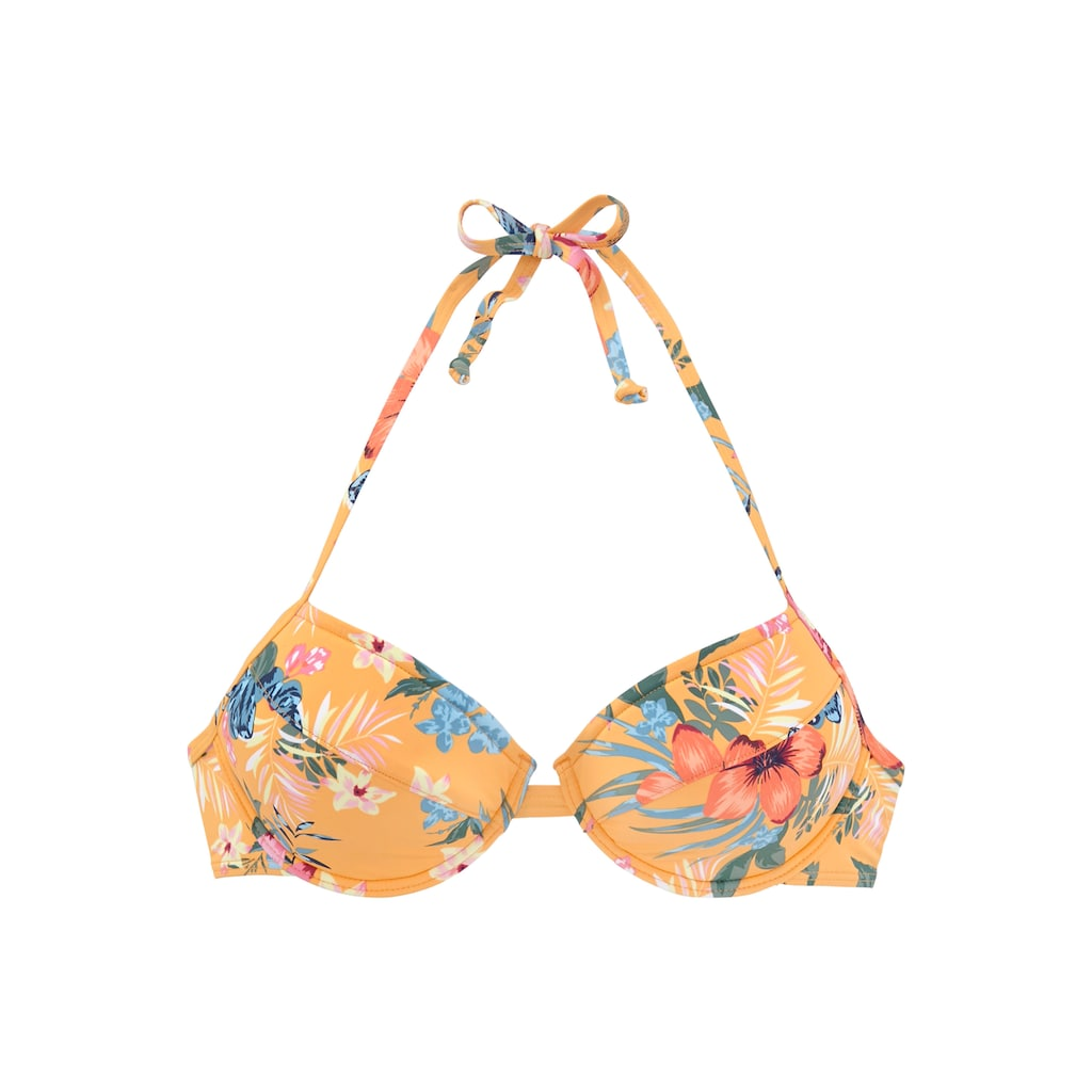 Bench. Push-Up-Bikini-Top »Maui«, mit floralem Design