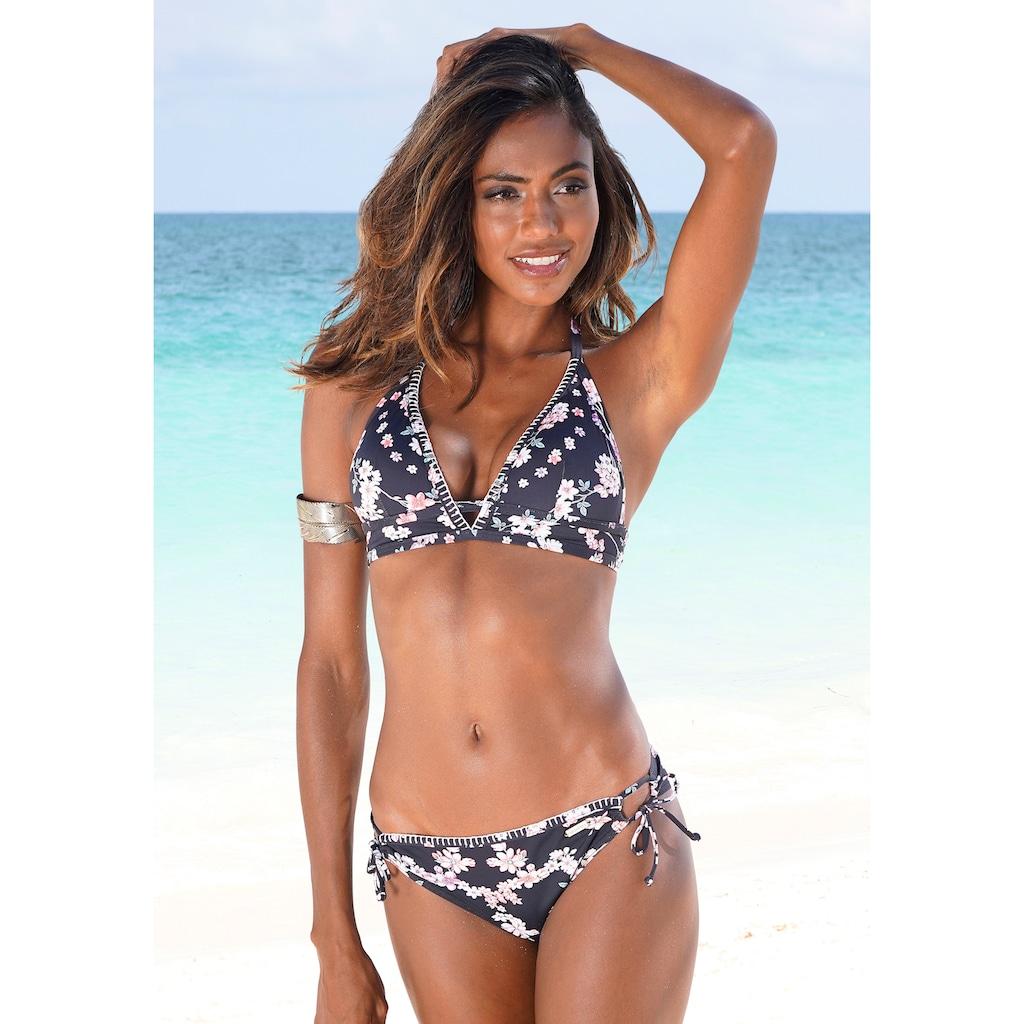 Sunseeker Bikini-Hose »Ditsy«, mit seitlichen Bindebändern und Häkelkante