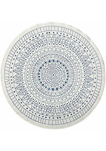 bougari Teppich »Porto«, rund, 5 mm Höhe, In- und Outdoor geeignet, Wendeteppich,... kaufen