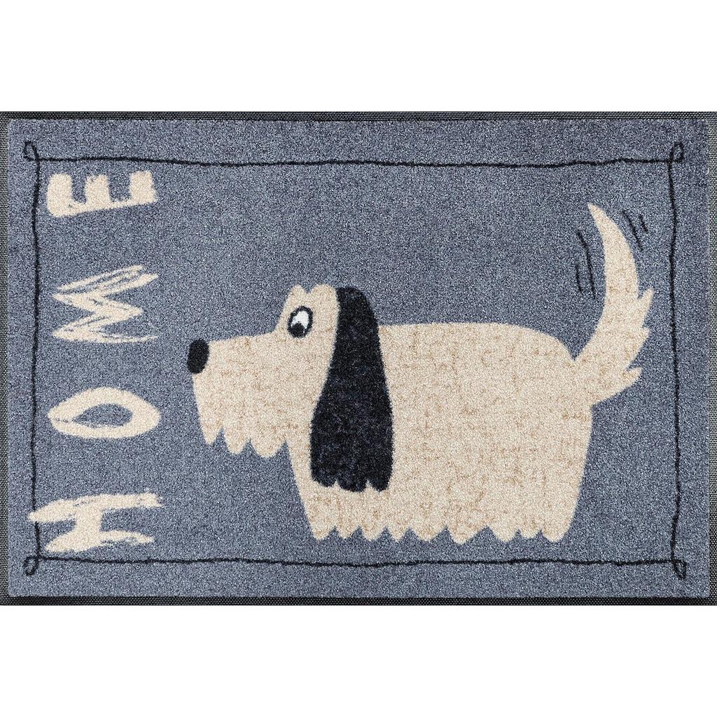 wash+dry by Kleen-Tex Fussmatte »Doggy Home«, rechteckig, 7 mm Höhe, Schmutzfangmatte, mit Spruch
