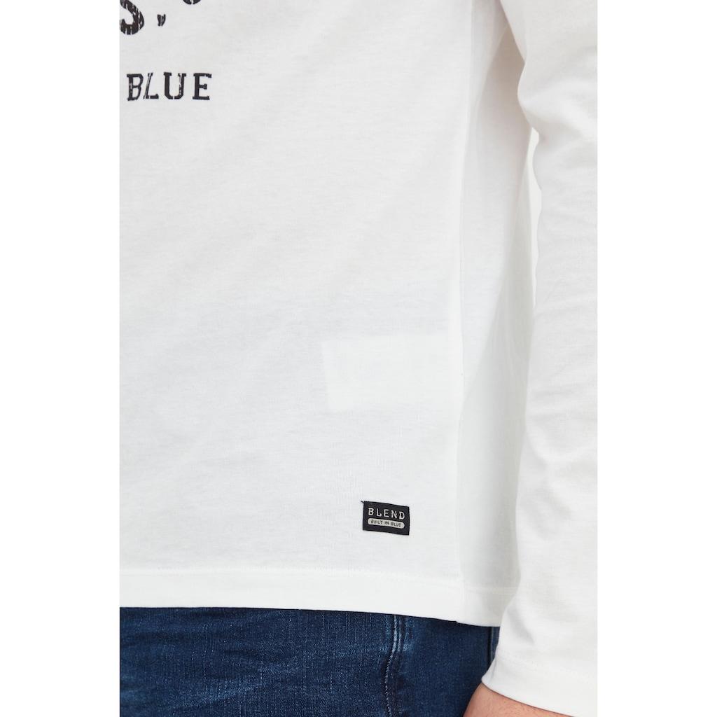 Blend Langarmshirt »Dopper«, Longsleeve mit Frontprint