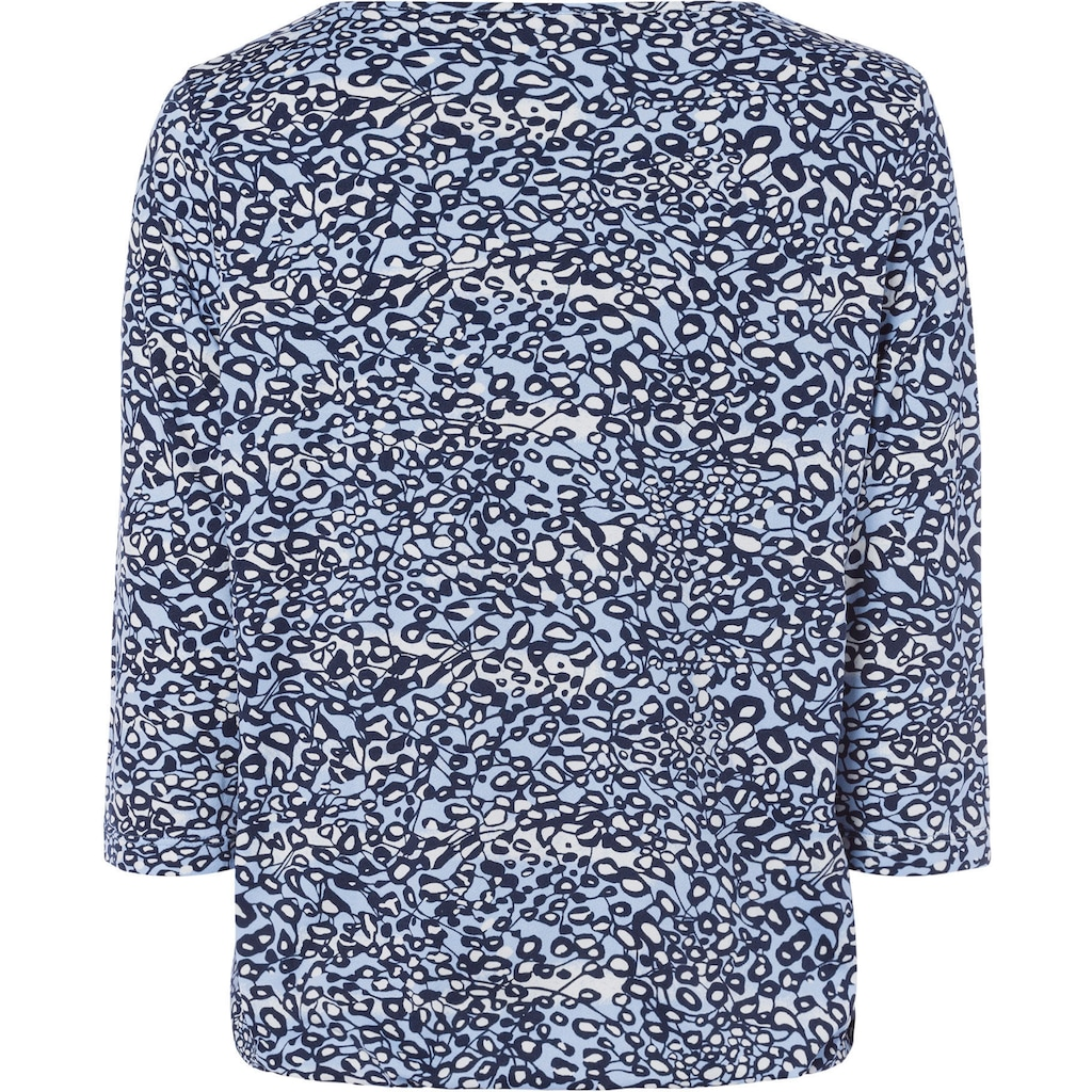 Olsen Print-Shirt, mit Minimal-Print und Gummiband-Saum